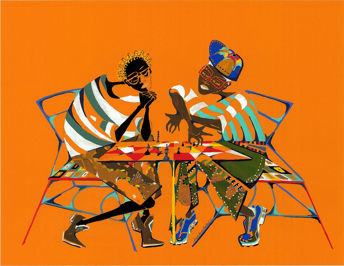 Susan Ragland's Vibrant Urban Folk Art